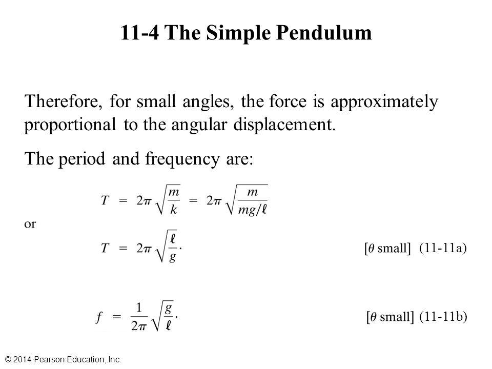 11-4 The Simple Pendulum