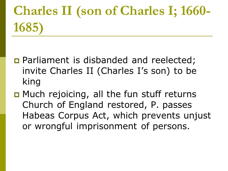 Charles II (son of Charles I; )