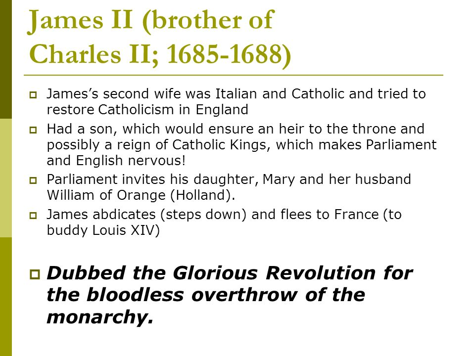 James II (brother of Charles II; )
