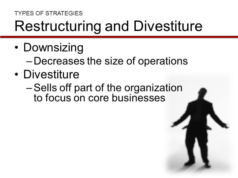 TYPES OF STRATEGIES Restructuring and Divestiture