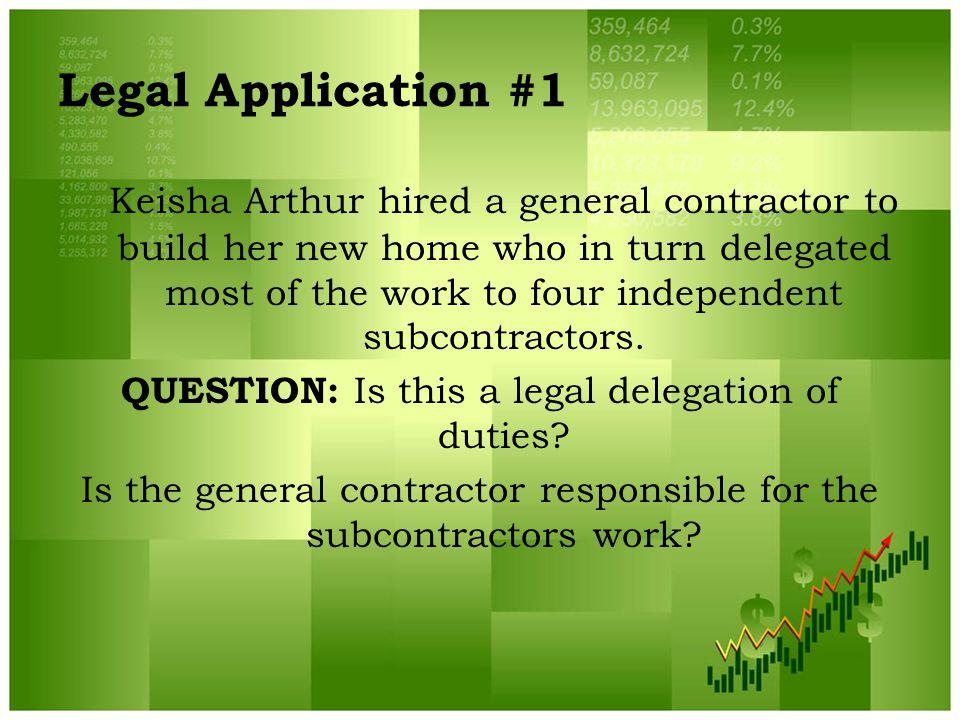 Legal Application #1