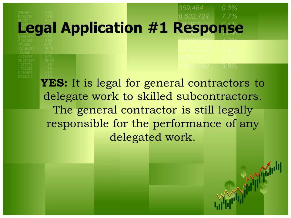 Legal Application #1 Response