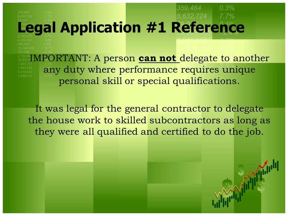 Legal Application #1 Reference