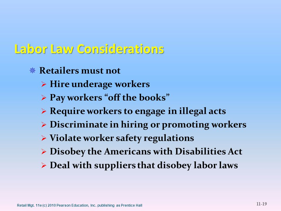 Labor Law Considerations