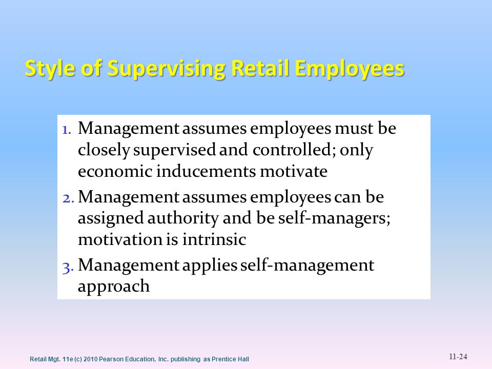 Style of Supervising Retail Employees