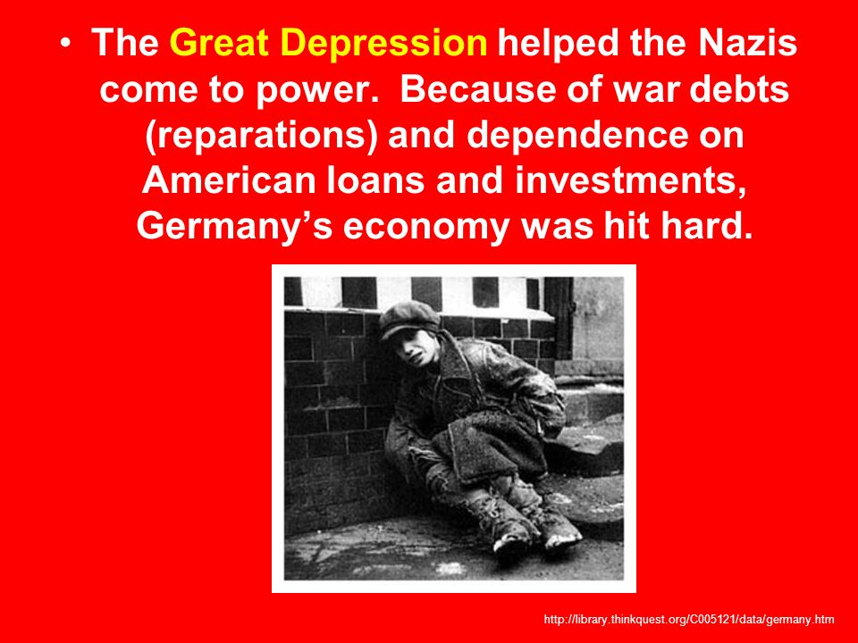 The Great Depression helped the Nazis come to power