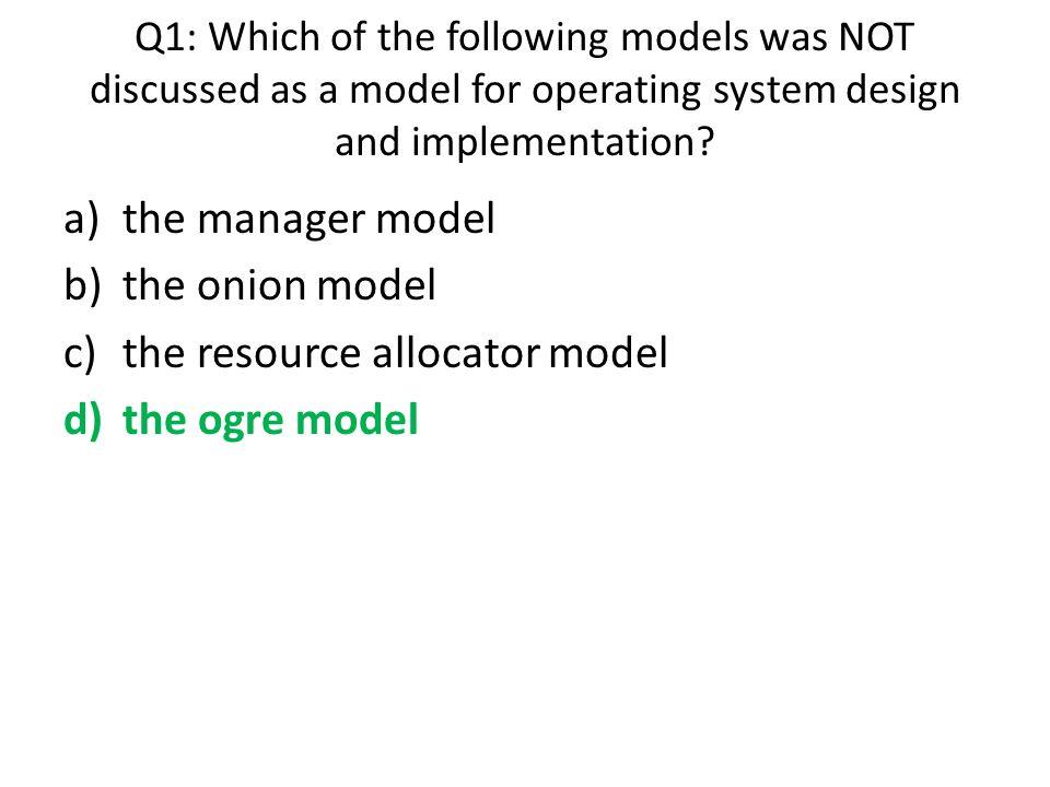the resource allocator model the ogre model