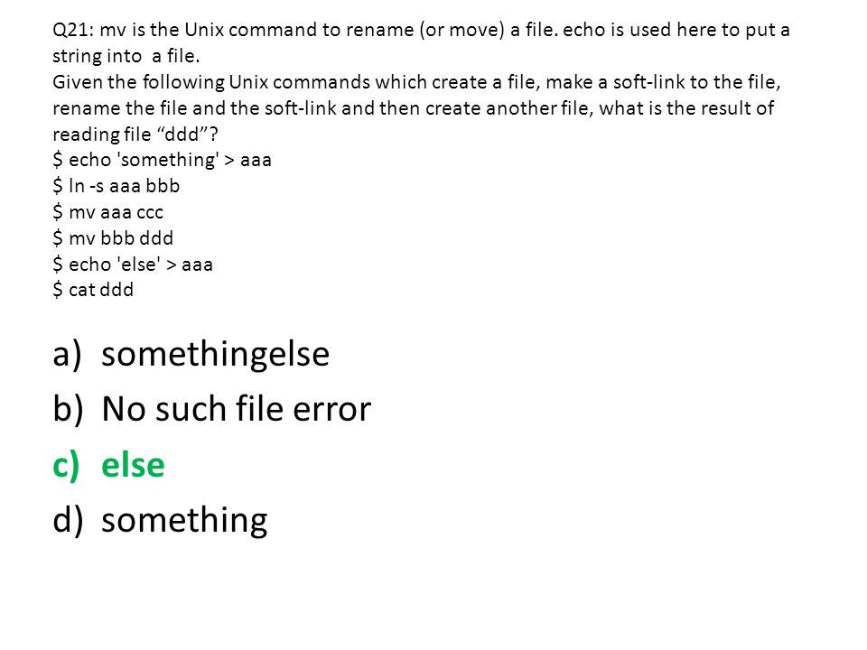 somethingelse No such file error else something
