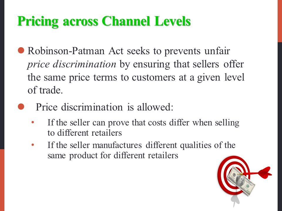 Pricing across Channel Levels