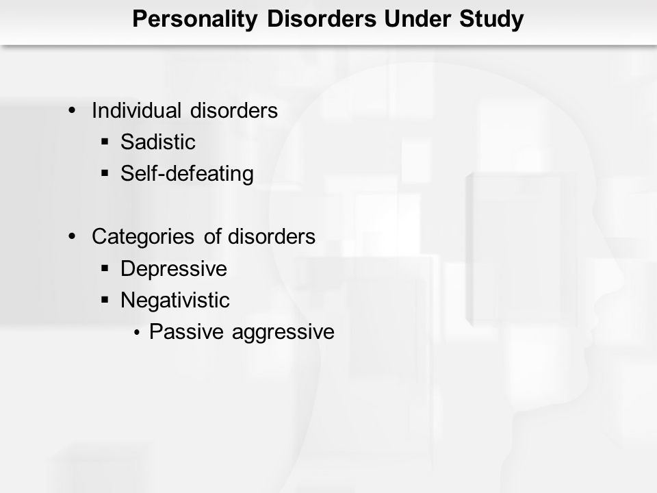 Personality Disorders Under Study