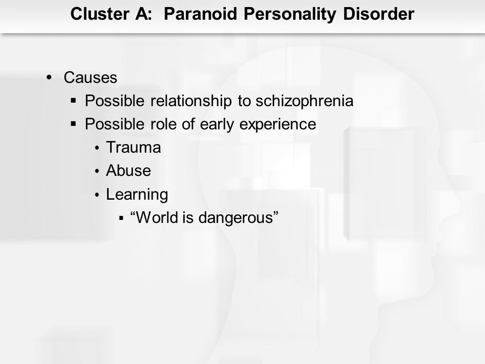 Cluster A: Paranoid Personality Disorder