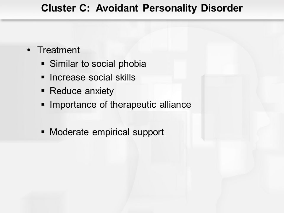 Cluster C: Avoidant Personality Disorder