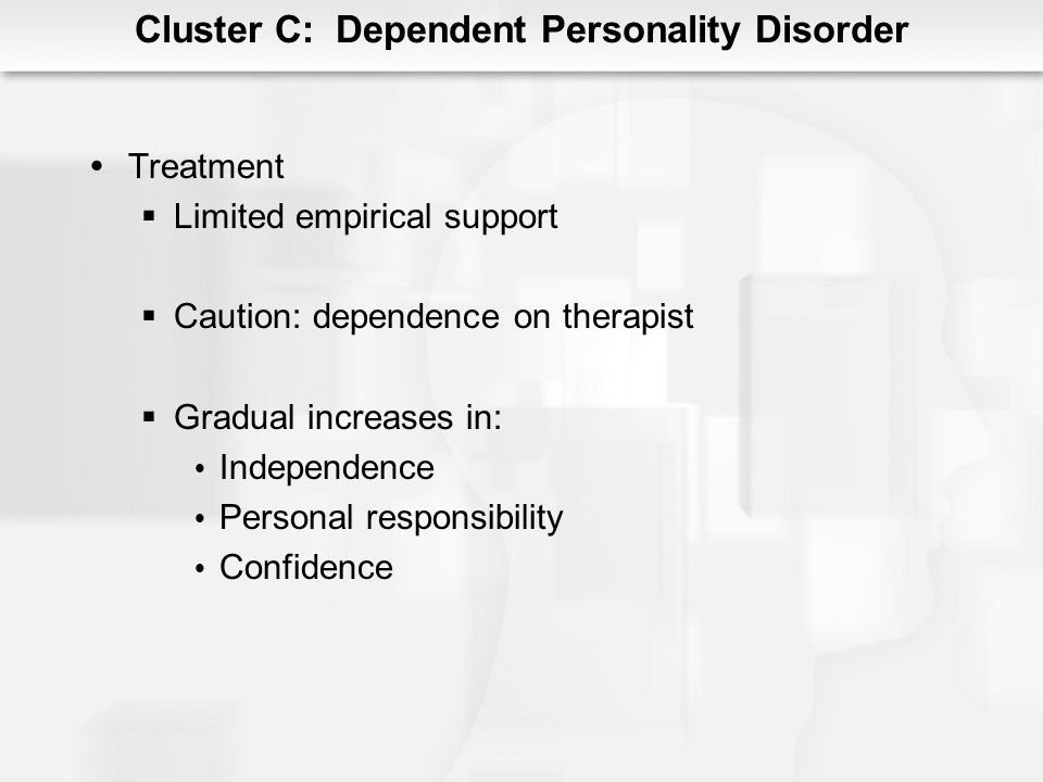 Cluster C: Dependent Personality Disorder