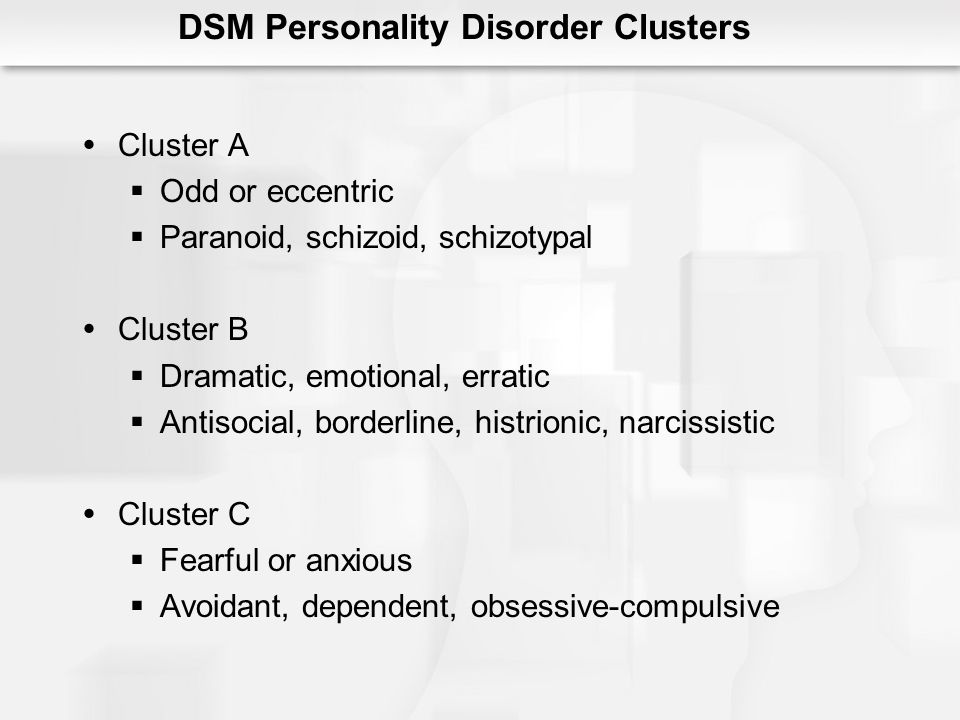 DSM Personality Disorder Clusters
