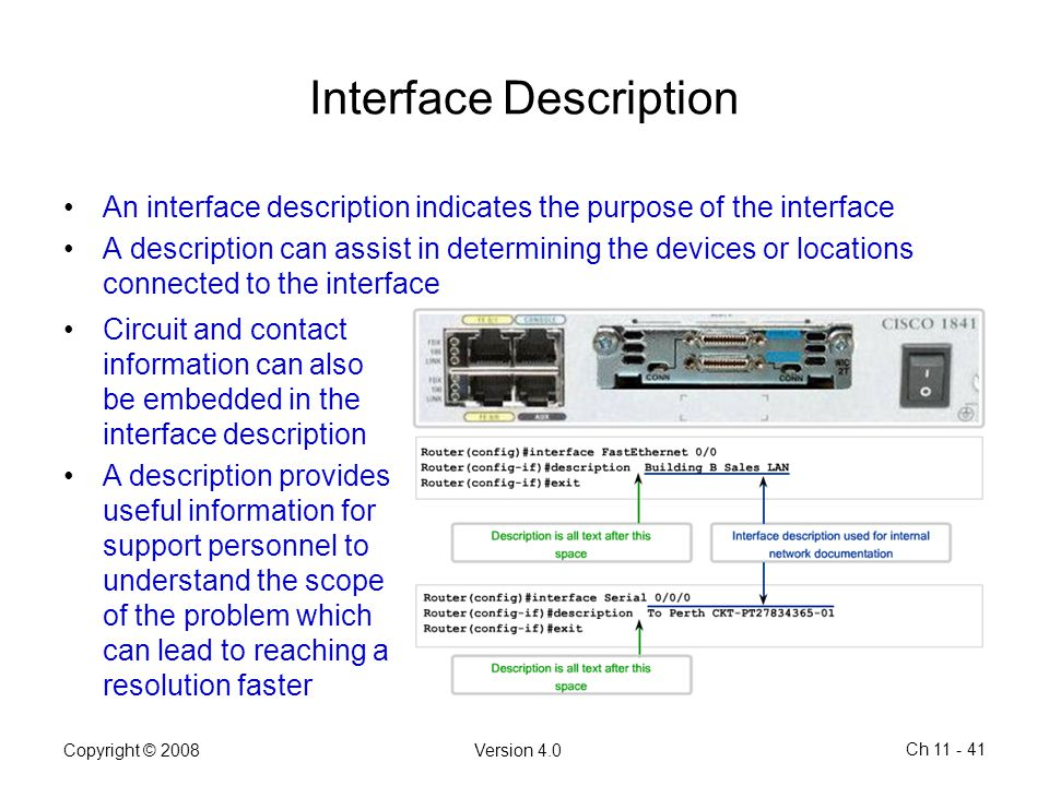 Interface Description