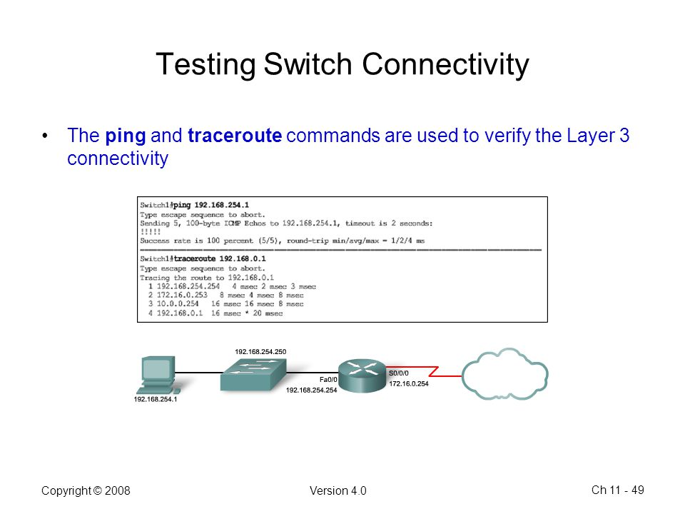 Testing Switch Connectivity