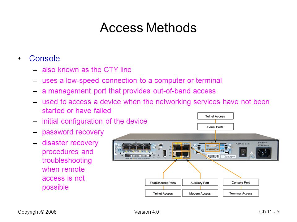 Access Methods Console also known as the CTY line