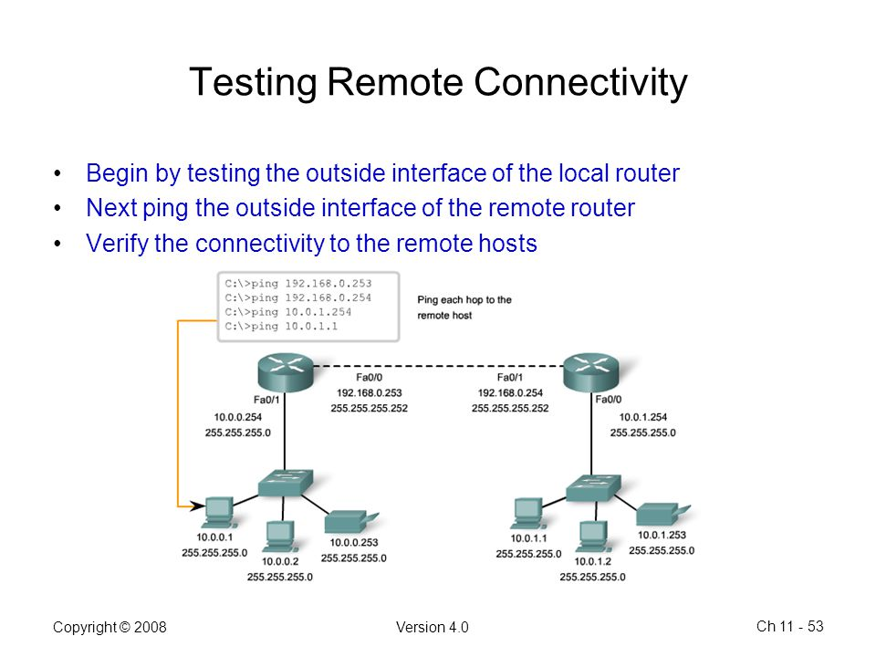 Testing Remote Connectivity