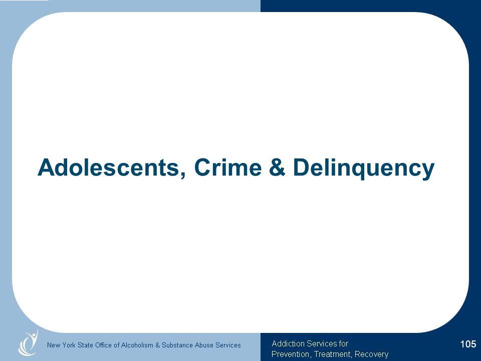 Adolescents, Crime & Delinquency