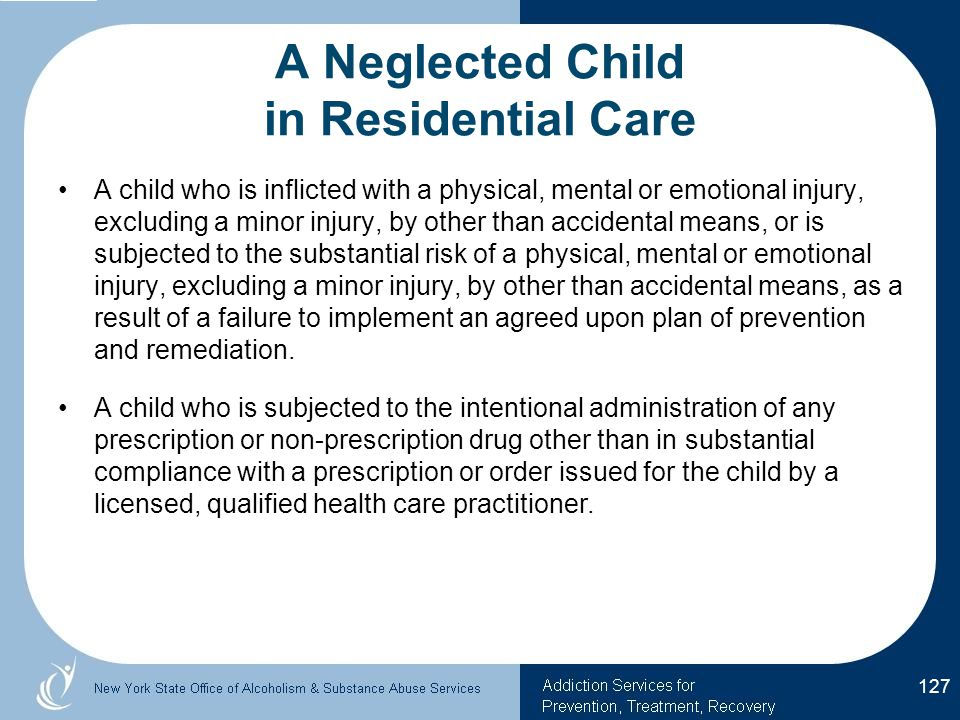 A Neglected Child in Residential Care