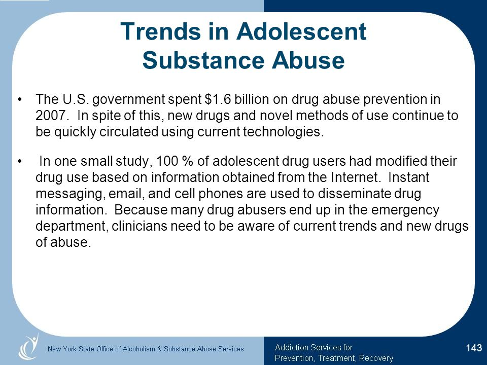 Trends in Adolescent Substance Abuse