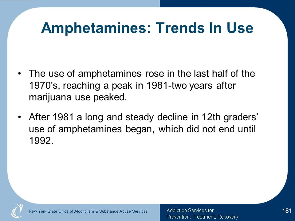 Amphetamines: Trends In Use