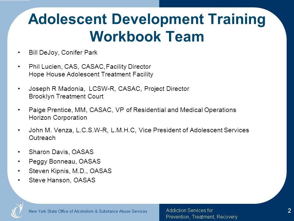 Adolescent Development Training Workbook Team