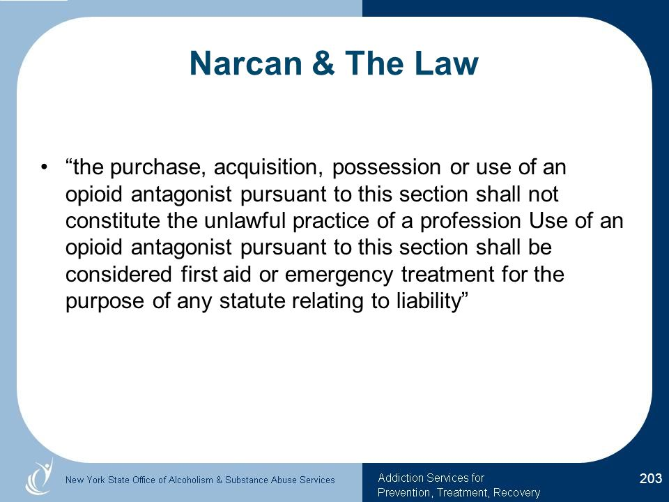 Narcan & The Law