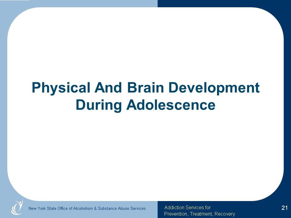 Physical And Brain Development During Adolescence