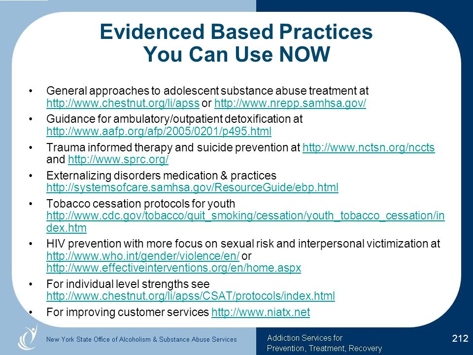 Evidenced Based Practices You Can Use NOW