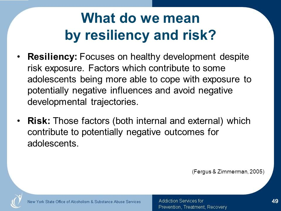 What do we mean by resiliency and risk
