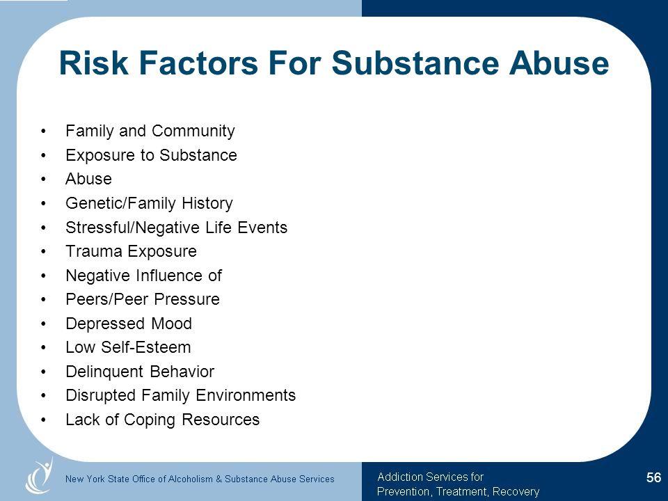 Risk Factors For Substance Abuse