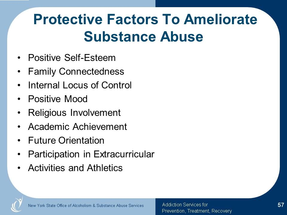 Protective Factors To Ameliorate Substance Abuse