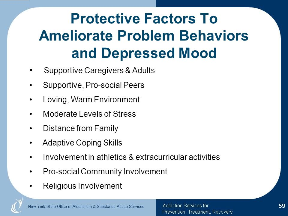Protective Factors To Ameliorate Problem Behaviors and Depressed Mood