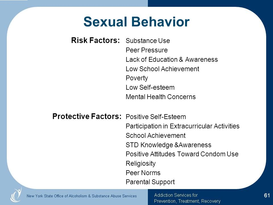 Sexual Behavior Risk Factors: Substance Use