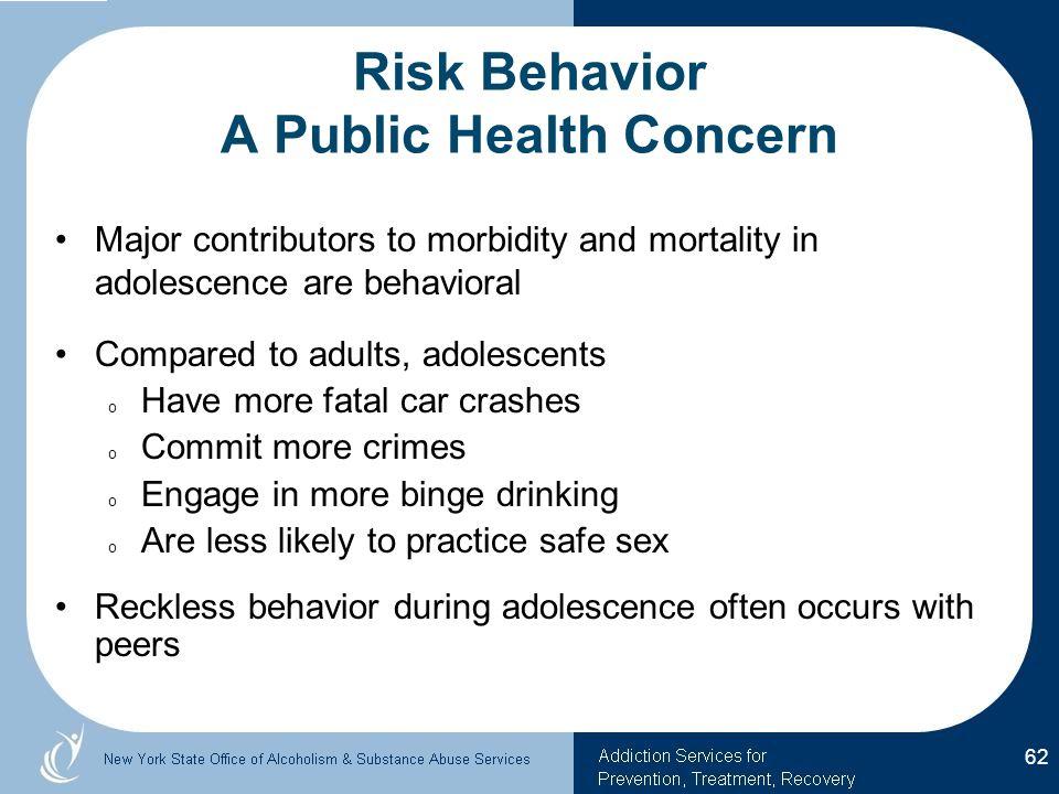 Risk Behavior A Public Health Concern