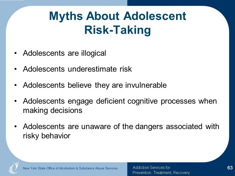 Myths About Adolescent Risk-Taking