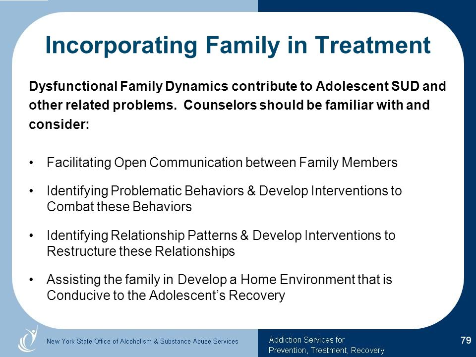 Incorporating Family in Treatment