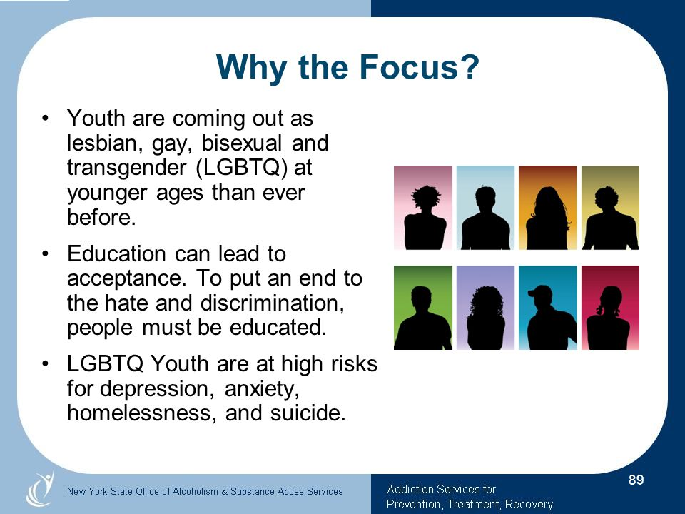 Why the Focus Youth are coming out as lesbian, gay, bisexual and transgender (LGBTQ) at younger ages than ever before.
