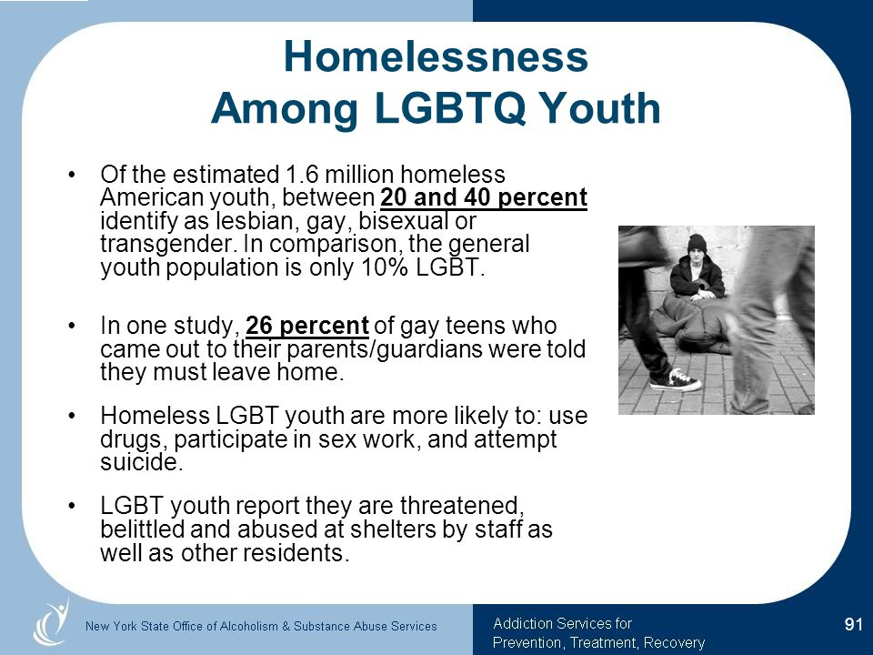 Homelessness Among LGBTQ Youth