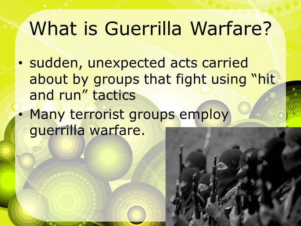 What is Guerrilla Warfare