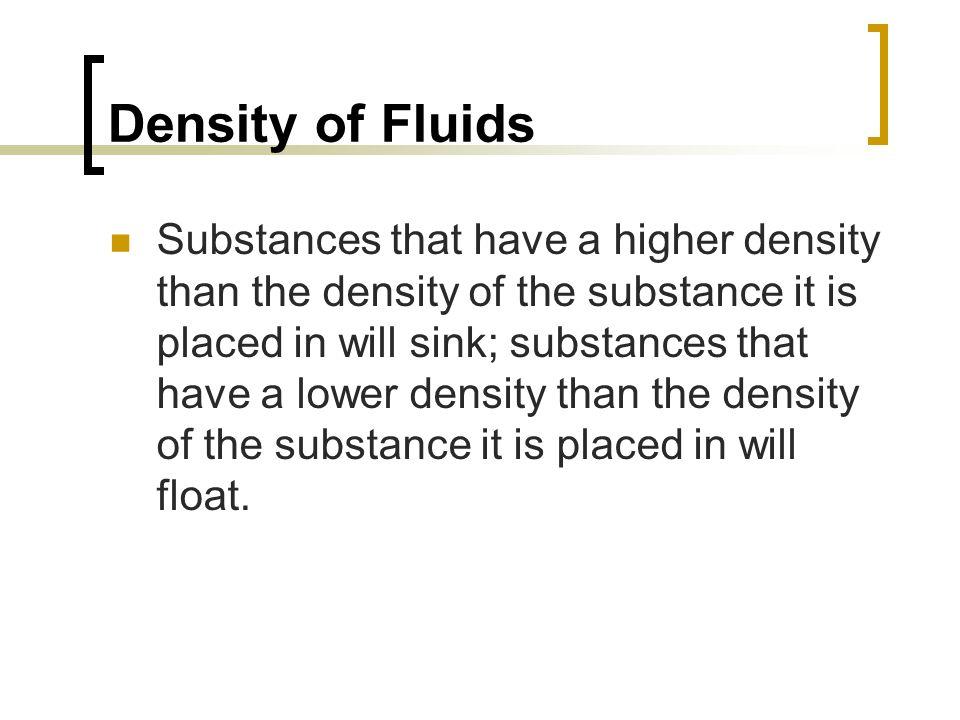 Density of Fluids