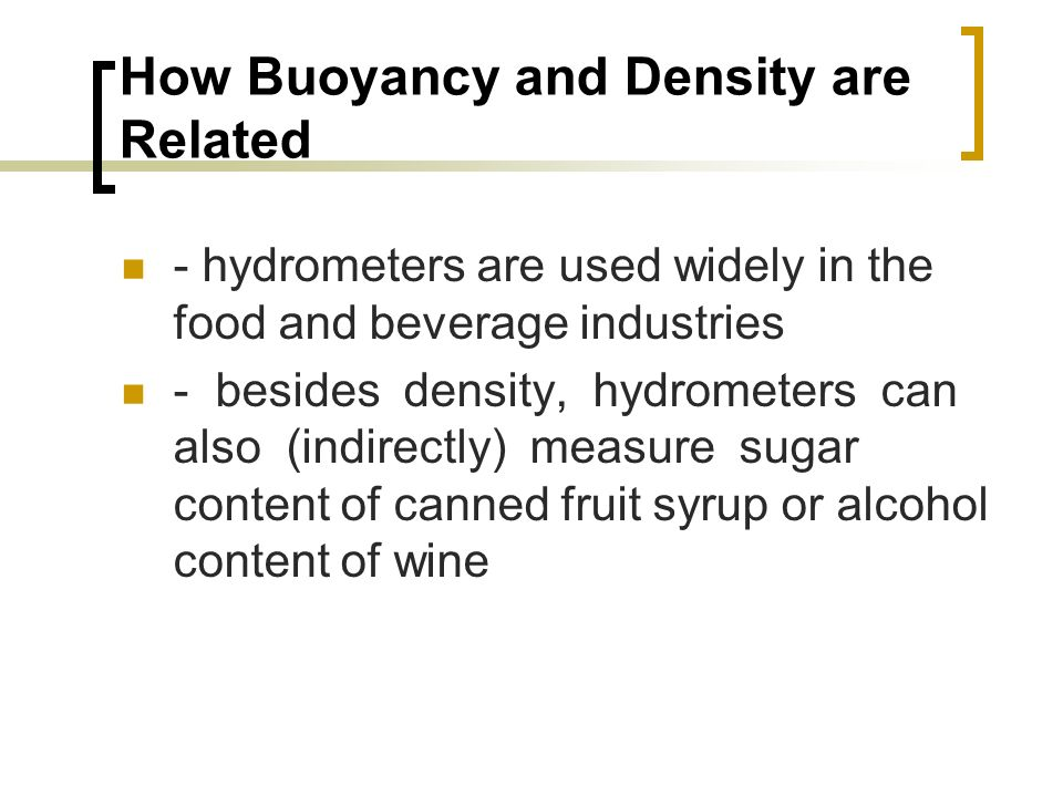 How Buoyancy and Density are Related