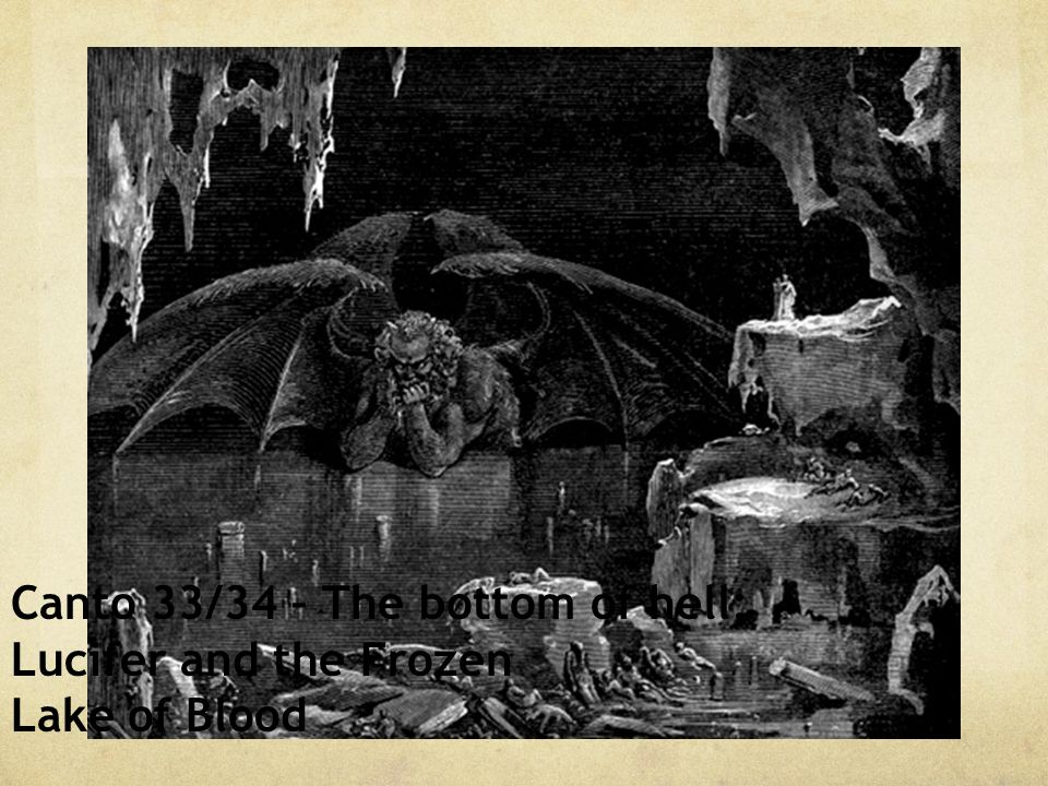 Canto 33/34 – The bottom of hell;