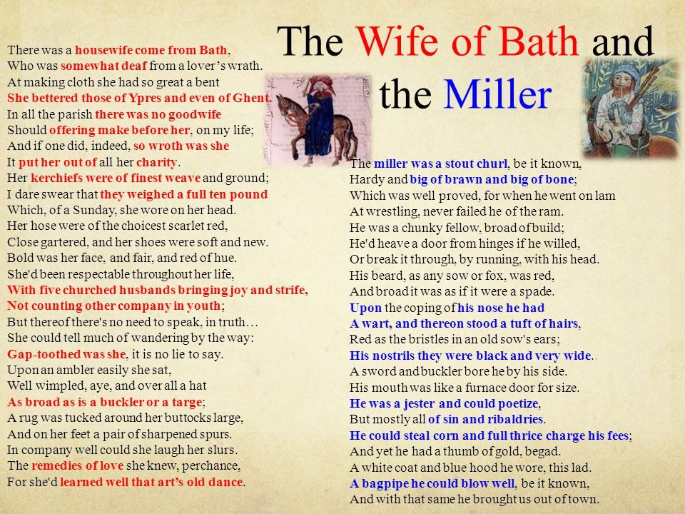 The Wife of Bath and the Miller