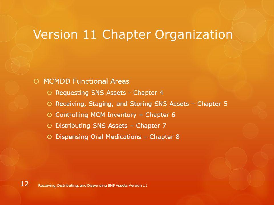 Version 11 Chapter Organization