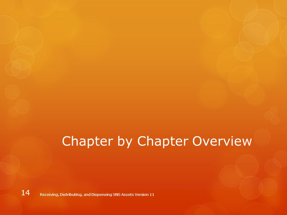 Chapter by Chapter Overview