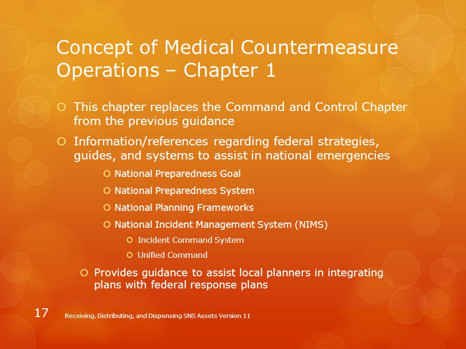 Concept of Medical Countermeasure Operations – Chapter 1