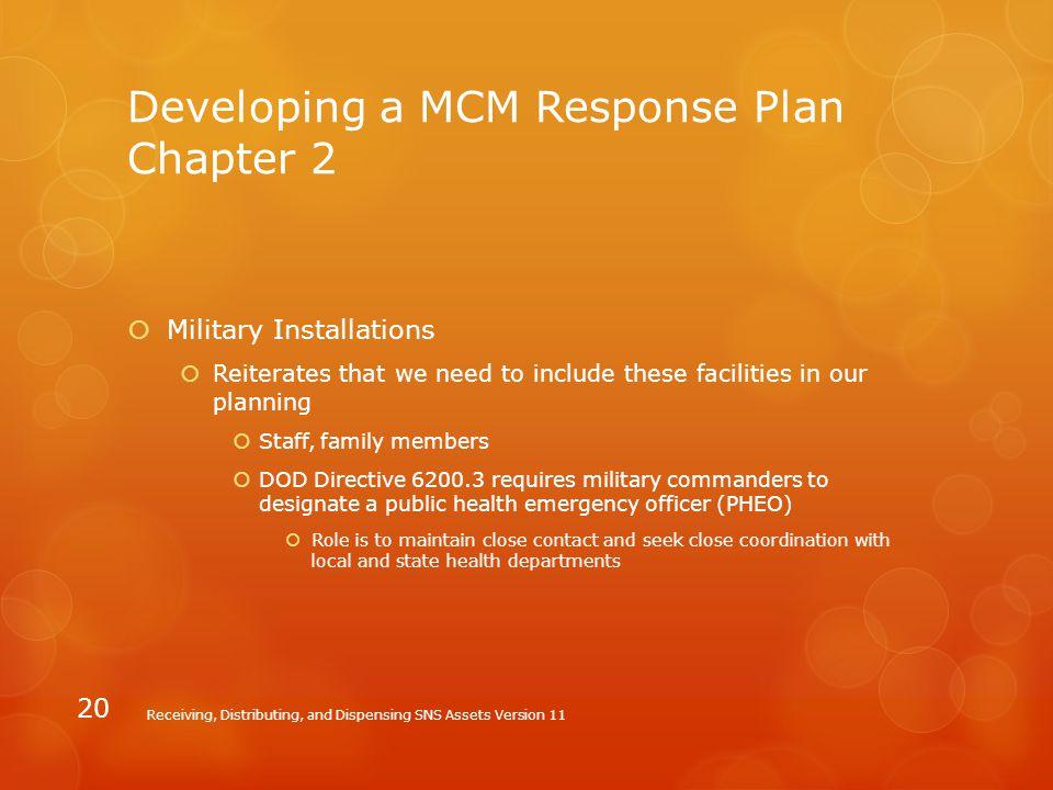 Developing a MCM Response Plan Chapter 2