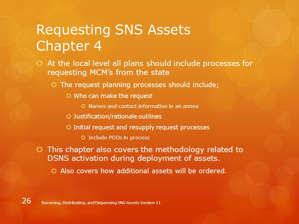 Requesting SNS Assets Chapter 4